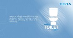 Say YES to Sanitation! There are 2.4 billion people living without a toilet in the world. It's time to change the numbers, say yes to hygiene with CERA. #WorldToiletDay #SayYesToSanitation #19November