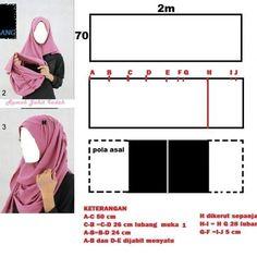 Best 12 making ezy hijab sewing – SkillOfKing. Muslim Dress, Hijab Dress, Muslim Fashion, Hijab Fashion, Fashion Poses, Tudung Shawl, Clothing Patterns, Sewing Patterns, Abaya Pattern