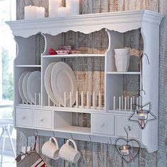 Shabby Chic Kitchen Wall Decorating Ideas 32 Beautiful Shabby Chic Kitchen Wall Decorating Ideas Even if you're pleased with your home decor, you can want to produce a few smallish modifications to present your house a fresh appearance. Cocina Shabby Chic, Shabby Chic Mode, Shabby Chic Kitchen Decor, Shabby Chic Style, Rustic Decor, Kitchen Rustic, Kitchen White, Open Kitchen, Rustic Style