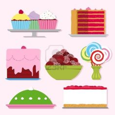 Cakes, Cupcakes, Baking, Sweets & Candy, Design, Colourful