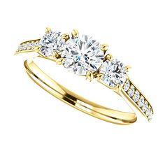 Three stone engagement ring diamond three stone by GopalsJewelry
