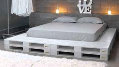 Подиум кровать из поддонов