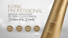 """K-PAK PROFESSIONAL es un tratamiento de salón conocido como """"El milagro de los 20 minutos"""" ya que en 4 pasos, aplicables en lava cabezas optimiza la reconstrucción del cabello logrando fortaleza inigualable y equilibro en la hidratación.   #JoicoCR #hairjoi #joico"""