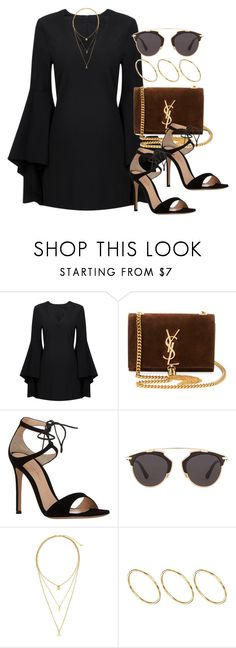 liked on Polyvore featuring Yves Saint Laurent, Gianvito Rossi, Christian Dior, H&M and ASOS