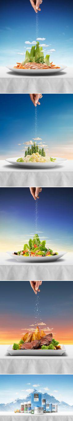 一组盐的广告,高大上!摄影师 Niklas Alm ... 来自非创意不广告 - 微博