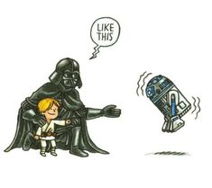 Darth Vader and Son by Jeffrey Brown. Check out more books for Sith acolytes at PCLS! Star Wars Meme, Star Wars Fan Art, Vader Star Wars, Star Wars Comics, Legos, Star Vars, Darth Vader And Son, Star Wars Luke Skywalker, Star Wars Tattoo