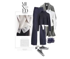 """""""Tout Et Rien / Everything And Nothing"""" by halfmoonrun ❤ liked on Polyvore featuring Uniqlo, Converse, 7 For All Mankind, Donna Karan and Judith Leiber"""