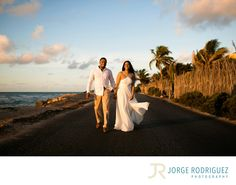 Jorge Rodriguez Photography - Destination Wedding Photography & Portrait based in Playa del Carmen, covering Tulum, Cozumel, Isla Mujeres, Cancun & Riviera Maya Mexico  - Engagement Photography Tulum: Rani & Travis stayed at Grand Palladium Colonial but they decided to book the transportation service for an additional fee and explore Tulum during the sunrise, we had a great fun stopping the morning rush hour on the road and climbing some rocks next to the ocean..Upon request, I will be…