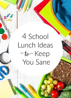 Pack healthy lunches without the stress! These four school lunch ideas will help keep you sane this Back To School season and all school year long. Top Recipes, Good Healthy Recipes, Healthy Kids, Real Food Recipes, Easy Recipes, Healthy Packaged Snacks, Healthy Packed Lunches, Easy Snacks, Clean Eating Recipes