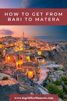 How to get from Bari to Matera – a complete guide! See one of the most beautiful places in Italy on this easy day trip from Bari to Matera, from Puglia to Basilicata in Southern Italy. Things To Do In Italy, Places In Italy, Italy Honeymoon, Italy Vacation, Italy Trip, Beautiful Places To Visit, Cool Places To Visit, Italy Travel Tips, Traveling To Italy Tips