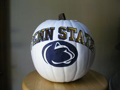Custom Penn State Pumpkin. Just bought this, the pumpkin is made is foam so it will can be displayed all year.