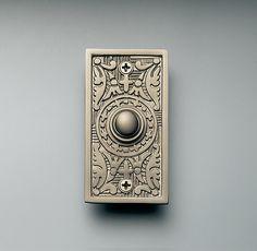 Ding dong... someone is at the door... // Rectangle Embossed Doorbell   Door Hardware   Restoration Hardware