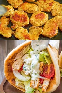 If you haven't tried a homemade Chicken Gyro yet, you are missing out! Fresh vegetables, tender chicken, tzatziki sauce, and feta cheese make an unforgettable combination! Heart Healthy Chicken Recipes, Grilled Chicken Recipes, Lunch Recipes, Healthy Dinner Recipes, Cooking Recipes, Chicken Recipes For Lunch, Roasted Chicken, Fried Chicken, Diet Recipes