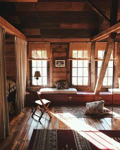 I've Stayed in Over 100 Luxe Cabins Around the World—Here Are the 13 I Recommend - Cabin interiors - Home Design, Bed Design, Home Interior Design, Forest Cabin, Forest House, Forest Cottage, Cabins And Cottages, One Room Cabins, Cozy Cabin