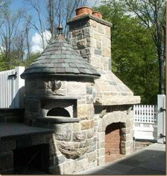 I love the look of this outdoor fireplace/grill/pizza oven. This would be great … I love the look of this outdoor fireplace/grill/pizza oven. This would be great in the outdoor great room. Stone Fireplace Pictures, Stone Fireplace Designs, Fireplace Art, Fireplace Bookshelves, Fireplace Ideas, Pizza Oven Outdoor, Outdoor Kitchen Bars, Outdoor Kitchens, Outdoor Rooms