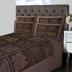 Arigato & Obligado Creations : Vintage Kantha #Bedspread #Bedding Visit www.home-furnishings.com Call at +91-120-4889900