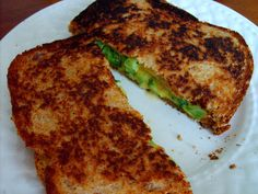 Grilled Cheese and Broccoli Sandwich with Smoked Gouda and Sprouted Grain Bread. My kids gobble these up!