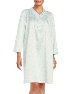 Miss Elaine Floral Nightgown Women's Mint Medium
