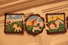 VINTAGE PUPPY DOG Birthday Party or Baby Shower Banner- would make cute nursery decor, too!
