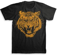 White Tiger T Shirt - American Apparel Tri-Blend Vintage Fashion - Graphic Tees…