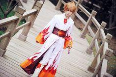Syaoran flame kimono. Cosplay from TRC