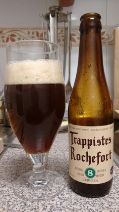Trappistes Rochefort 8. Cerveza trapense de las mejor valoradas. Dulzón y afrutado.