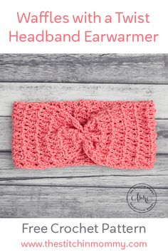 Waffles With a Twist Headband Earwarmer - Free Crochet Pattern Wa. : Waffles With a Twist Headband Earwarmer – Free Crochet Pattern Waffles With a Twist Headband Earwarmer – Free Crochet Pattern – The Stitchin Mommy Hand Crochet, Crochet Hooks, Free Crochet, Crochet Headbands, Crocheted Hats, Crochet Granny, Crochet Patterns For Beginners, Knitting Patterns, Scarf Patterns