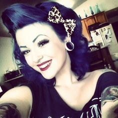 Everything about this photo is awesome! I love her gauges and her hair. She reminds me of Marilyn Monroe cx