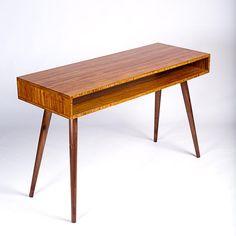 Bamboo Mid Century Desk. Bamboo Desk. Dorm Furniture. Dorm Desk Mid Century Modern Desk, Mid Century Living Room, Dorm Furniture, Bamboo Furniture, Bamboo Plywood, Dorm Desk, Mid-century Modern, Hardwood, Desks