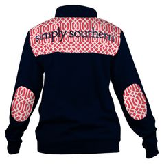 This limited edition pullover from Simply Southern is perfect for those chilly southern nights. It features a 1/4 zipper on the front and is perfect for monogramming! This is a pre-order sale. We are expecting these pullovers to arrive 10/21 and all orders will be fulfilled in the order they were received. Free shipping on all orders great and small! #SouthenrRecollection #SimplySouthern #Monogrammed