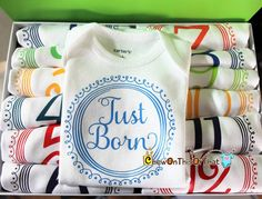 Just Born Onesies scalable for purchase. Choose the color but it separate or add it to a set.  http://www.chewonthisorthatdesigns.com/listing/290958551/just-born-newborn-baby-onesie-bodysuit #chewonthisorthat #etsy #handmade #etsyshop #smallbusiness #baby #crafts #babyclothes #babygirl #babyboy #babyfashion #kidsclothes #kidsfashion #babyshower #onesie #onesies #babywear #love #cutie #cute #newborn #newbornphotography #babyphotography #newbornphotographer #newbornbaby #pregnancy #infant…