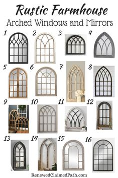 Home Decor Kmart 16 Rustic Farmhouse Arched Windows and Mirrors.Home Decor Kmart 16 Rustic Farmhouse Arched Windows and Mirrors House Design, Farmhouse Windows, Rustic Decor, Rustic Farmhouse, Arched Wall Decor, Arched Windows, Mirror Decor, Farmhouse Mirrors, Rustic House