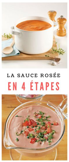 #sauce #rosée Sauces, Sauce Tomate, Pizza, Cooking, Food, Noodles, Tomatoes, Preserves, Drinks