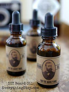 How to make beard oil on EverythingEtsy.com - So easy!