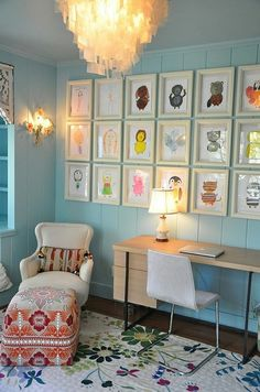 I am planning to do this on one wall in my mud room! I already have about ten pictures framed. Thankfully, dollar store frames are stupid cheap and can be painted black!