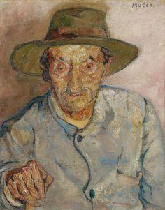 Maria Mela Muter (1876-1967), Mann mit Hut, 1912, Öl auf Leinwand, 62,3 x 49,5 cm
