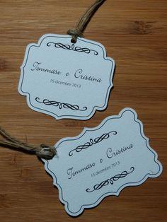 15 bigliettini per bomboniere matrimonio di PaperArtItalia