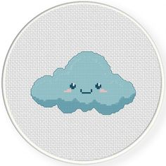 Cute Cloud Cross Stitch Pattern