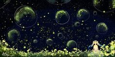 Rating: Safe Score: 87 Tags: bubbles dress flowers hatsune_miku hzrn_(ymj924) night stars twintails vocaloid User: FormX
