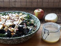 Kale and Apple Salad with Bacon and Pecans