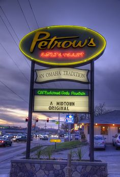 Petrow's, A Tradition in Omaha, Nebraska. Yummy pies!!!!  This is where I discovered my hubby loved Sour cream Raisin pie.