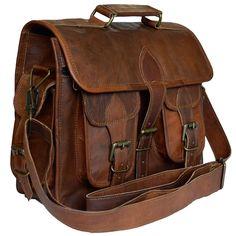 e3976f9a01a6 New Men s Leather Vintage Laptop Messenger Handmade Briefcase Bag Satchel