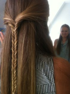 halfback fishtail. really cute.