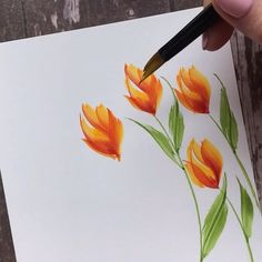 Good morning! ☀️ Here are 2 different but similar techniques of how I did the flowers I posted yesterday, using the wedge brush (from…