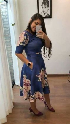 Sencillo, corto y elegante Modest Dresses, Modest Outfits, Classy Outfits, Modest Fashion, Pretty Dresses, Beautiful Dresses, Casual Dresses, Fashion Dresses, Cute Outfits