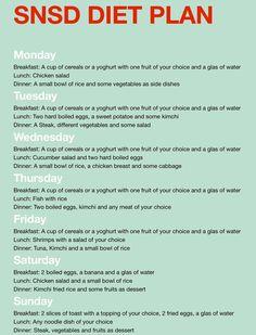 SNSD Diet Plan thekoreandiet.com... #diet #korean