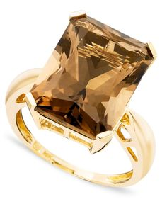14k Gold Ring, Smoky Quartz (21-3/4 ct. t.w.) - Rings - Jewelry & Watches - Macy's