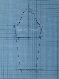 Выкройка основа женской блузки на 42, 44, 46, 48, 50, 52, 54, 56 размеры