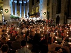 "A candlelight vigil as the song, ""This Little Light of Mine,"" filled the Cathedral, climaxed the stirring ""New Year's Eve Concert for Peace"" at St. John the Divine Cathedral, NYC New Years Eve, Cathedral, Nyc, Entertainment, Peace, Culture, Songs, Concert, World"