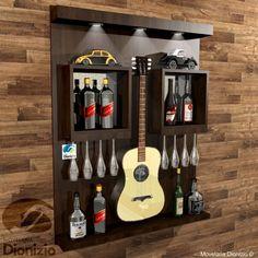 Tv Unit Furniture, Home Decor Furniture, Rustic Wine Racks, Home Bar Designs, Man Cave Home Bar, Rack Design, Diy Bar, Wall Bar, Wine Cabinets